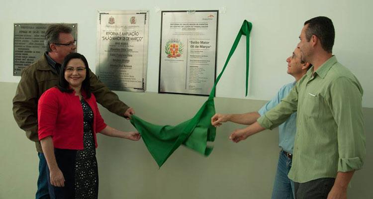 Fábio Zuza inaugura reforma do salão do Centro de Lazer