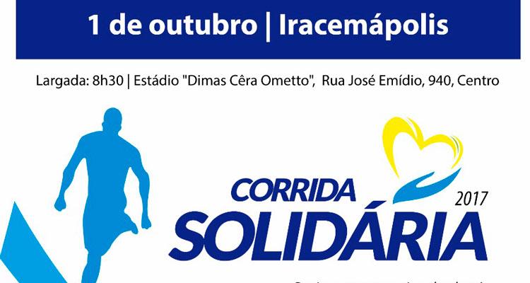 """""""Corrida Solidária"""" visa conseguir recursos para a área social de Iracemápolis"""