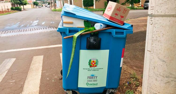 Lixo precisa ser descartado de maneira correta