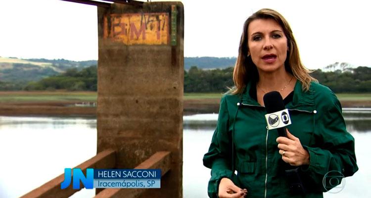 Jornal Nacional cita Iracemápolis por trabalhos na represa