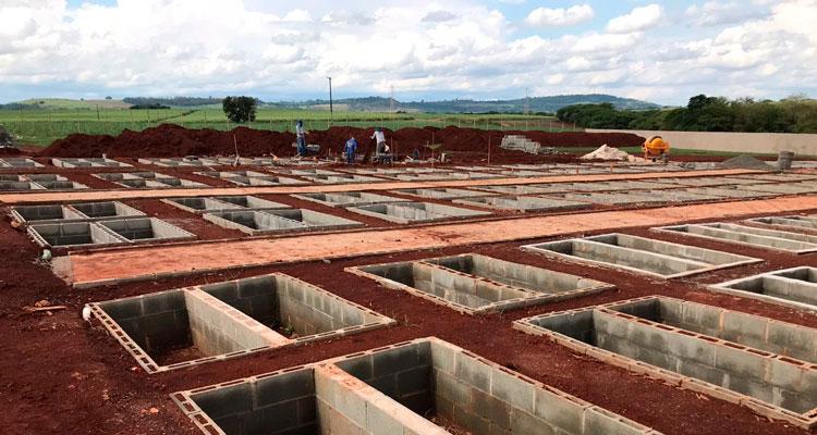 Seguem as obras de ampliação do Cemitério