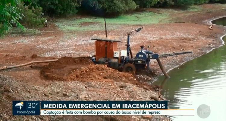 Represa Municipal ganha bomba de captação de água