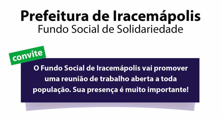 Fundo Social marca evento para reunir voluntários