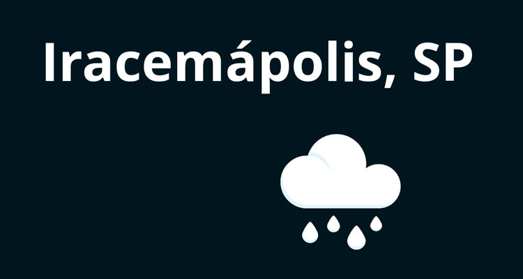 Período chuvoso: 121 mm em Iracemápolis